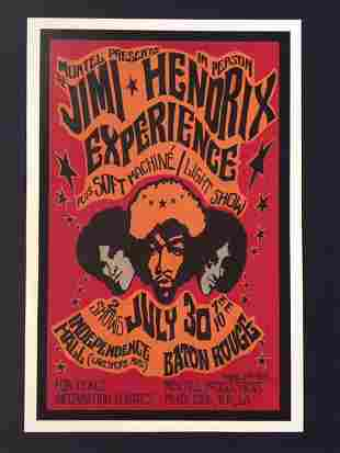 JIMI HENDRIX Experience July 30 th  1968 Concert Poster