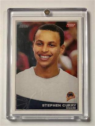 2009 STEPHEN CURRY Topps Rookie Basketball Card