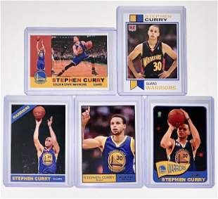 5 Limited Edition STEPHEN CURRY Promo Basketball Cards