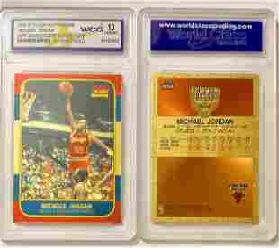 MICHAEL JORDAN Brushed Gold Rookie Basketball Card