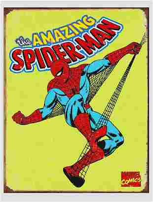 Marvel Comic Books Amazing SPIDER-MAN Metal Sign