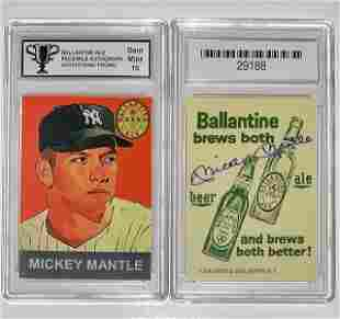 MICKEY MANTLE Beer Advertising Baseball Card