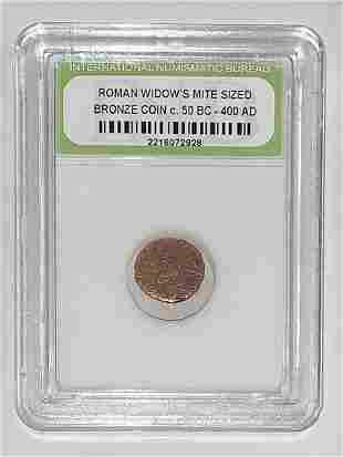 Circa 50 BC-400 AD Ancient Mite Size Bronze Roman Coin
