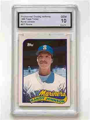1989 Topps RANDY JOHNSON 1 st  Rookie Baseball Card