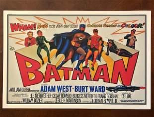 1960s Batman Big Screen Debut Movie Poster