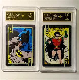 Vintage DC Comics BATMAN and ROBIN Cards