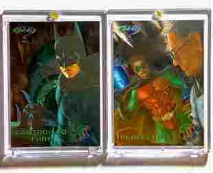 2 Rare BATMAN Metal Universe HOLO Trading Cards