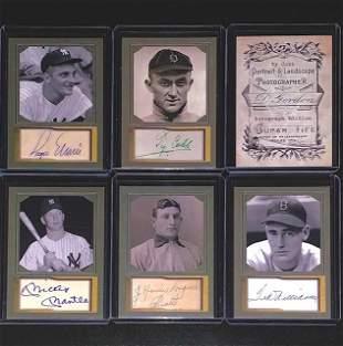 5 Signed D. Gordon Studio Portrait Baseball Cards