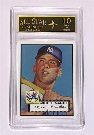 MICKEY MANTLE 1952 Topps RP Rookie Baseball Card