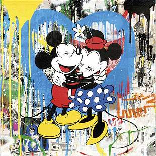 BANKSY Graffiti Art Mickey and Minnie Mouse Canvas Prnt