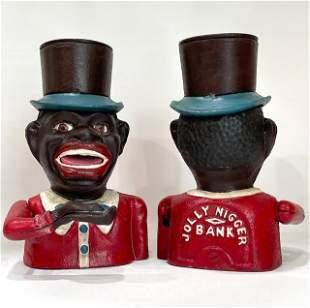 1896 Black Americana Cast Iron Mechanical Coin Bank