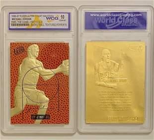 MICHAEL JORDAN Court Masters Textured Basketball Card
