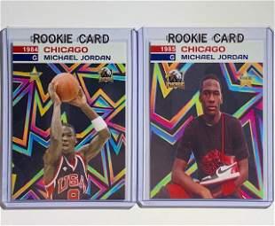 2 Rare MICHAEL JORDAN Custom Rookie Basketball Cards