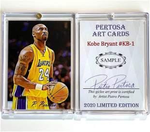 KOBE BRYANT Artist Signed SAMPLE Art Basketball Card