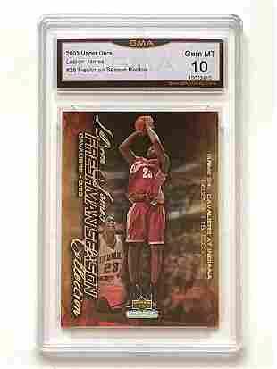 Gem 10 LEBRON JAMES 2003 Rookie Basketball Card
