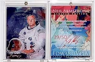 NASA 1 of 50 Artist Signed NEIL ARMSTRONG Art Card