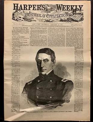 1861 Civil War The Battle of FORT SUMTER Newspaper