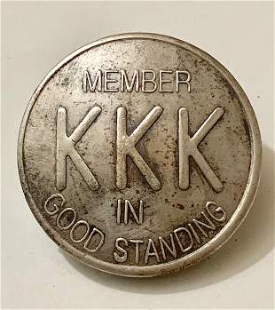 Knights of the Klan Member in Good Standing Pin
