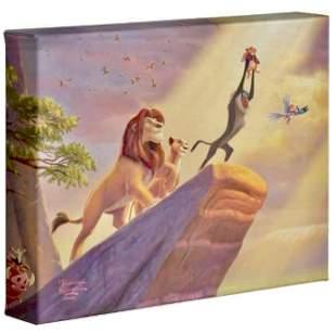 Thomas Kinkade The LION KING Canvas Art w/COA