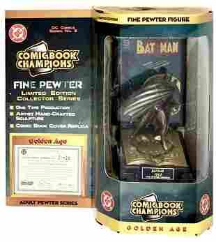 D.C. Comics Golden Age 1943 BATMAN Pewter Figurine