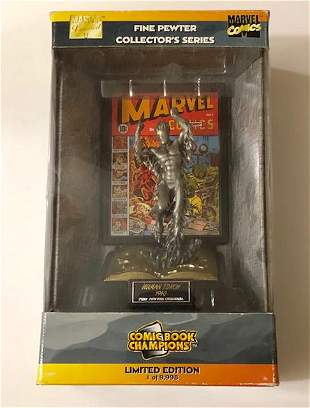 Marvel Comics LTD. Edition HUMAN TORCH Pewter Figurine