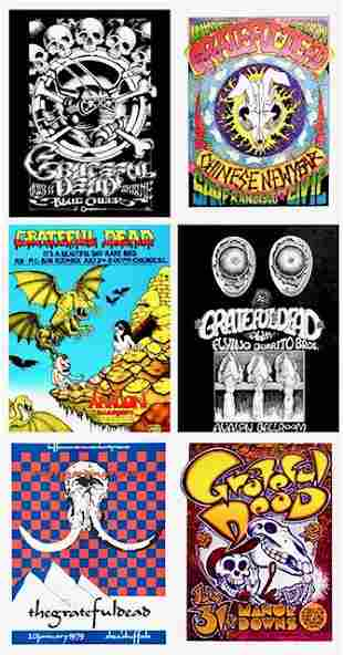 Lot of 6 GRATEFUL DEAD 8 x 10 Concert Poster Lithos/A