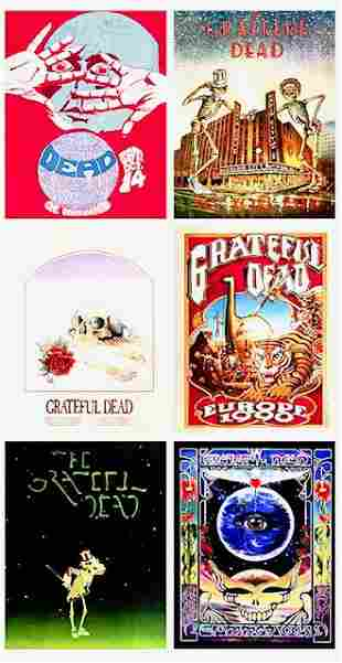 Lot of 6 GRATEFUL DEAD 8 x 10 Concert Poster Lithos/B