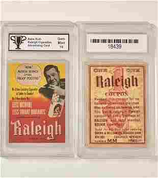 10 BABE RUTH Tobacco Advertising Baseball Card