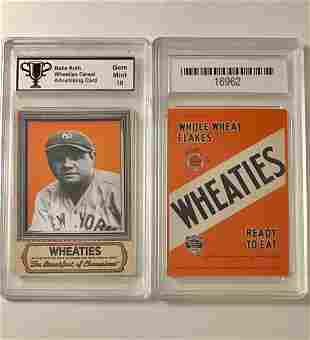 BABE RUTH Wheaties Cereal Advertising Baseball Card