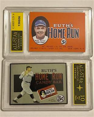 BABE RUTH Candy Bar Advertising Baseball Card