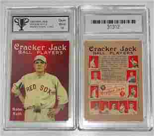 BABE RUTH Promo CRACKER JACK Baseball Card