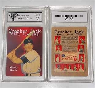 MICKEY MANTLE Promo CRACKER JACK Baseball Card