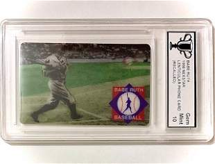 Rare Re-Called 3D-Motion BABE RUTH Baseball Card