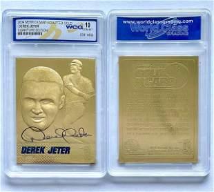 DEREK JETER Gem 10 Gold Signature Edition Baseball Card