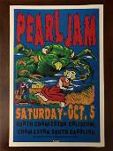 PEARL JAM October 5 th  1996 Concert Poster