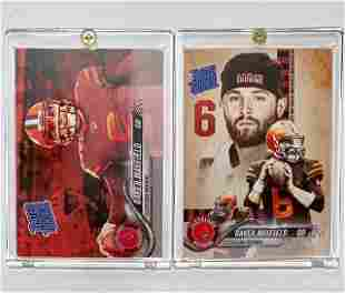 Lot of 2 BAKER MAYFIELD Rookie Football Cards