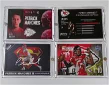 Lot of 2 PATRICK MAHOMES Custom Rookie Football cards