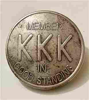 Knights of the Klan Member in Good Standing Pin