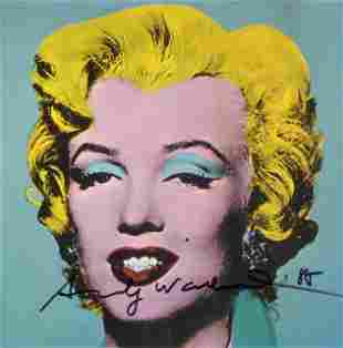 ANDY WARHOL Marilyn Monroe Canvas Art Print