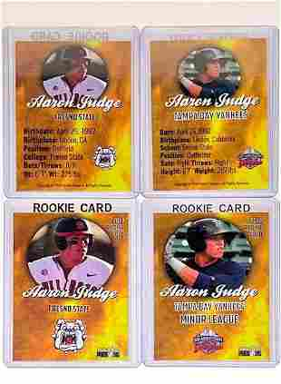 Lot of 2 AARON JUDGE Gold Phenom Rookie Baseball Cards
