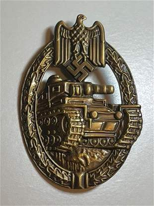 WW2 Nazi German Panzer Assault Badge Uniform Pin