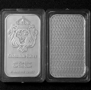 One Troy Ounce SCOTTSDALE SILVER .999 Fine Silver Bar
