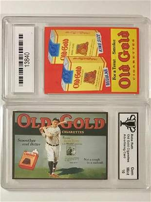 BABE RUTH Tobacco Advertising Baseball Card