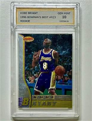 1996 Bowman Best KOBE BRYANT 1 st Rookie Basketball