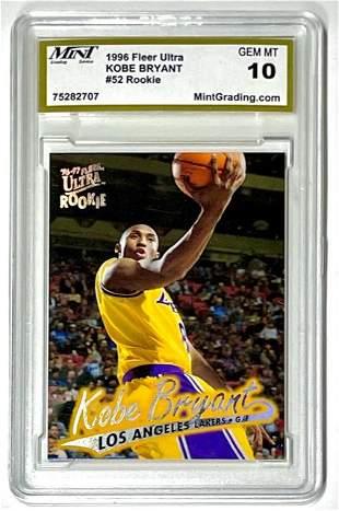 Gem Mint 10 1996 KOBE BRYANT Tookie Basketball Card