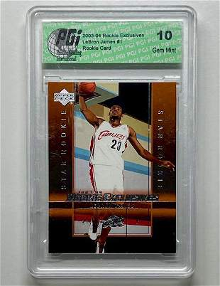 LEBRON JAMES 2003 UD Exclusive Rookie Basketball Card