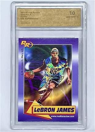 Rare LEBRON JAMES 2003 Rookie Review Basketball Card