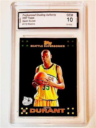 2007 Topps KEVIN DURANT 1 st Rookie Basketball Card