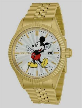 INVICTA Limited DISNEY Mickey Mouse Gold Tone Men Watch