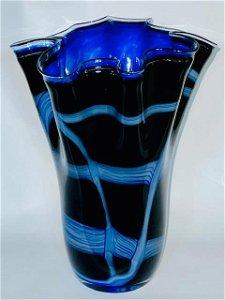 Elegant MRANO Art Glass Napkin Vase w/Stunning Colors